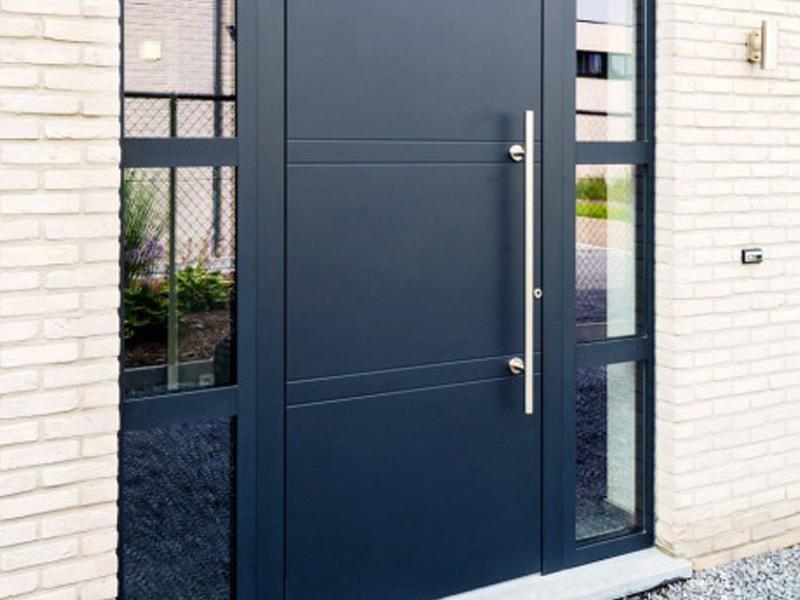 Porte d'entrée aluminium dormants latéraux vitrés, Saint Maur des Fossés 94100 Val de Marne