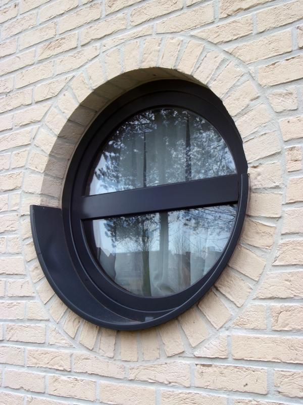 Fenêtre lucarne ronde aluminium anidosé gris anthracite, Saint Maur des Fossés 94100 Val de Marne