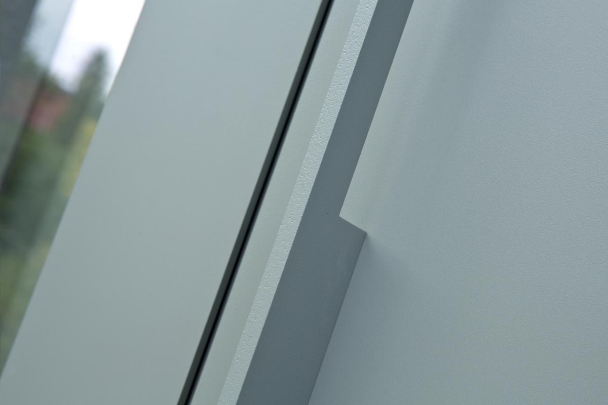 Poignée de porte d'entrée dormants vitrés latéraux en aluminium et teintée aux couleurs des volets et portes-fenêtres, Saint Maur des Fossés 94100 Val de Marne
